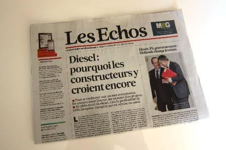 Mobilité et sécurité: Interview dans le quotidien les Echos