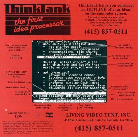 """La publicité de Thinktank, version 1. """"Ce n'est pas moi qui pleure Papet, ce sont mes yeux..."""""""