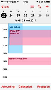 Publier un calendrier partagé Office 365 sur iPhone / iPad