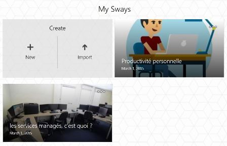 Sway : Microsoft innove sur Internet ! (enfin ?)