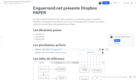 Dropbox Paper : la quintessence du document collaboratif